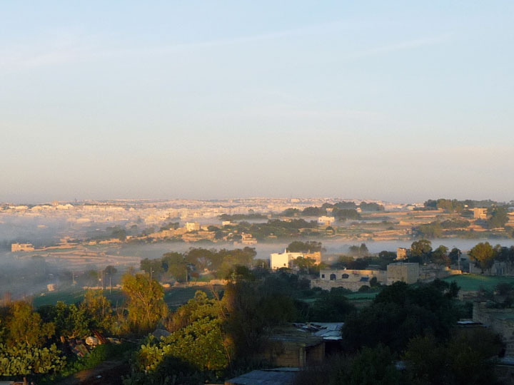 View towards Valletta and Three Cities